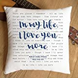 Just Print! The Beatles, In My Life, TYPOGRAPHY DESIGN Song Lyrics Inspired Gift - Pillow Cushion Cover - Ideal Cotton 2nd Anniversary