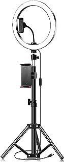 Haokaini Selfie Ring Light LED Anneau Lumière avec Trépied Support de Téléphone Portable pour Le Maquillage en Direct Mini...