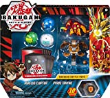 Bakugan, Battle Pack 5-Pack, Aurelus Cloptor and Pyrus Trhyno, Collectible Cards and Figures, for Ages 6 and Up
