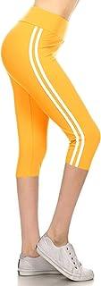 Leggings Depot Buttery Soft Women's Yoga Gym Workout Higher Waist Solid Capri Leggings Pants 22+ Colors