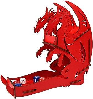 e-Raptor ERA31715Drago Dice Tower Board Game, Rosso, Grande
