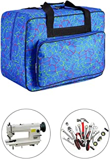 Sewing Machine Carrying Case Tote Bag,Universal Nylon Carry Bag, Universal Padded Storage Cover Carrying Case with Pockets and Handles (Blue_1)