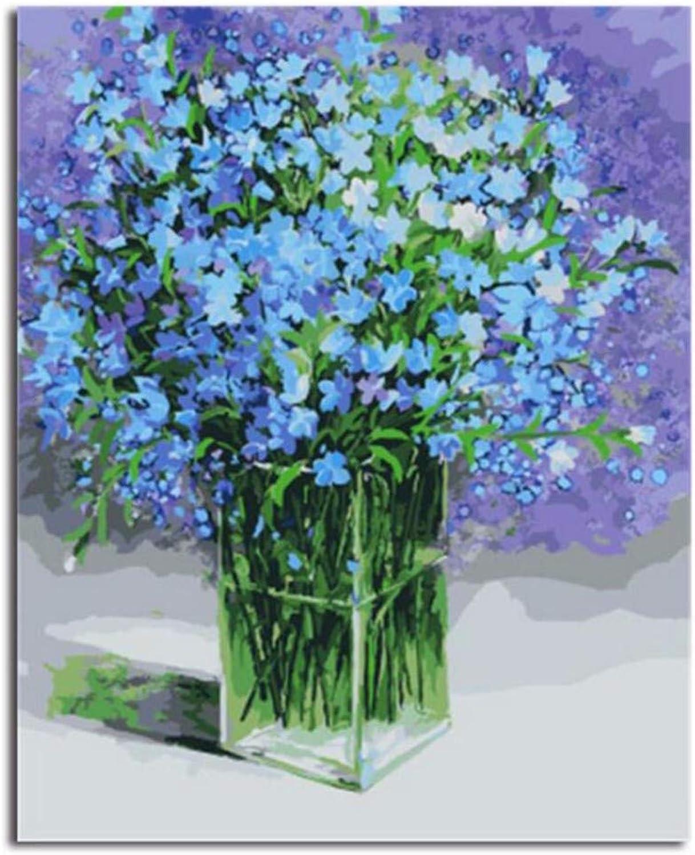Waofe  Gerahmte Bilder Blaumen Diy Ölgemälde Malen Nach Zahlen Handgemalt Auf Leinwand Wohnkultur B07PNVH6T6 | Billig ideal