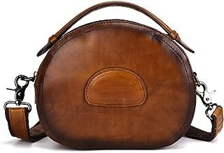 Crossbody Bag for Women Genuine Leather Top Handle Tote Purses Vintage Satchels Handbag