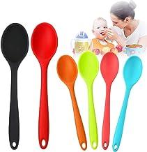 6 Pcs Edible Spoons Set, Silicone Serving Spoons for Cooking, Stirring Spoons Kitchen Cooking Spoons Heat Resistant Kitche...