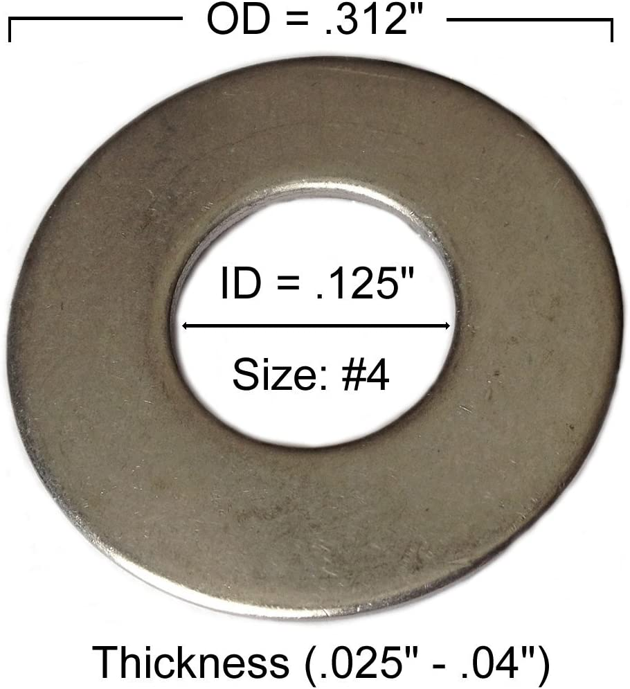 pack of 50pcs Type 18-8 Stainless Steel Common Flat Washers Size 1//2 Marine Bolt Supply