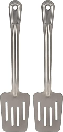 high quality Stainless Steel Spatula - Pack of 2 - Slotted Spatulas for Kitchen 2021 - outlet sale Metal Cooking Egg Turner sale