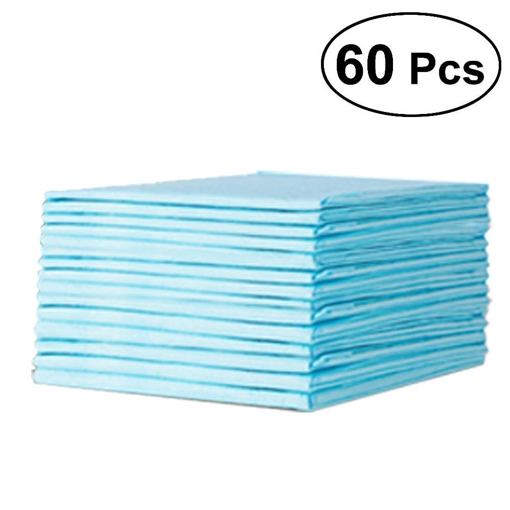 任意マーキング解明するHeallyily 60ピース使い捨ておむつベッド保護吸収性通気性防水ベビーおむつおむつ用新生児