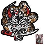 Hannya Oni Mask Patch Embroidered Applique...