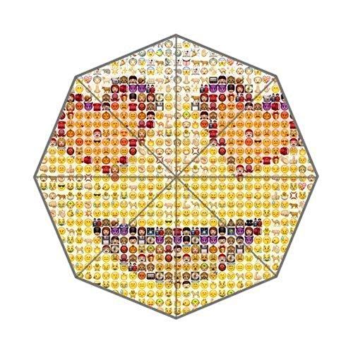 ENNE Emoji-Regenschirm Regen Regenschirm faltbar Kompakte Reise Regenschirm einfaches tragen