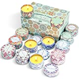 STRN Citronella Scented Candles, Summer Soy Wax Candles, Lemongrass Aromaethrapy Candles for Outdoor& Indoor, Travel Tin Candles Set for Garden, Camping(12 Pack)