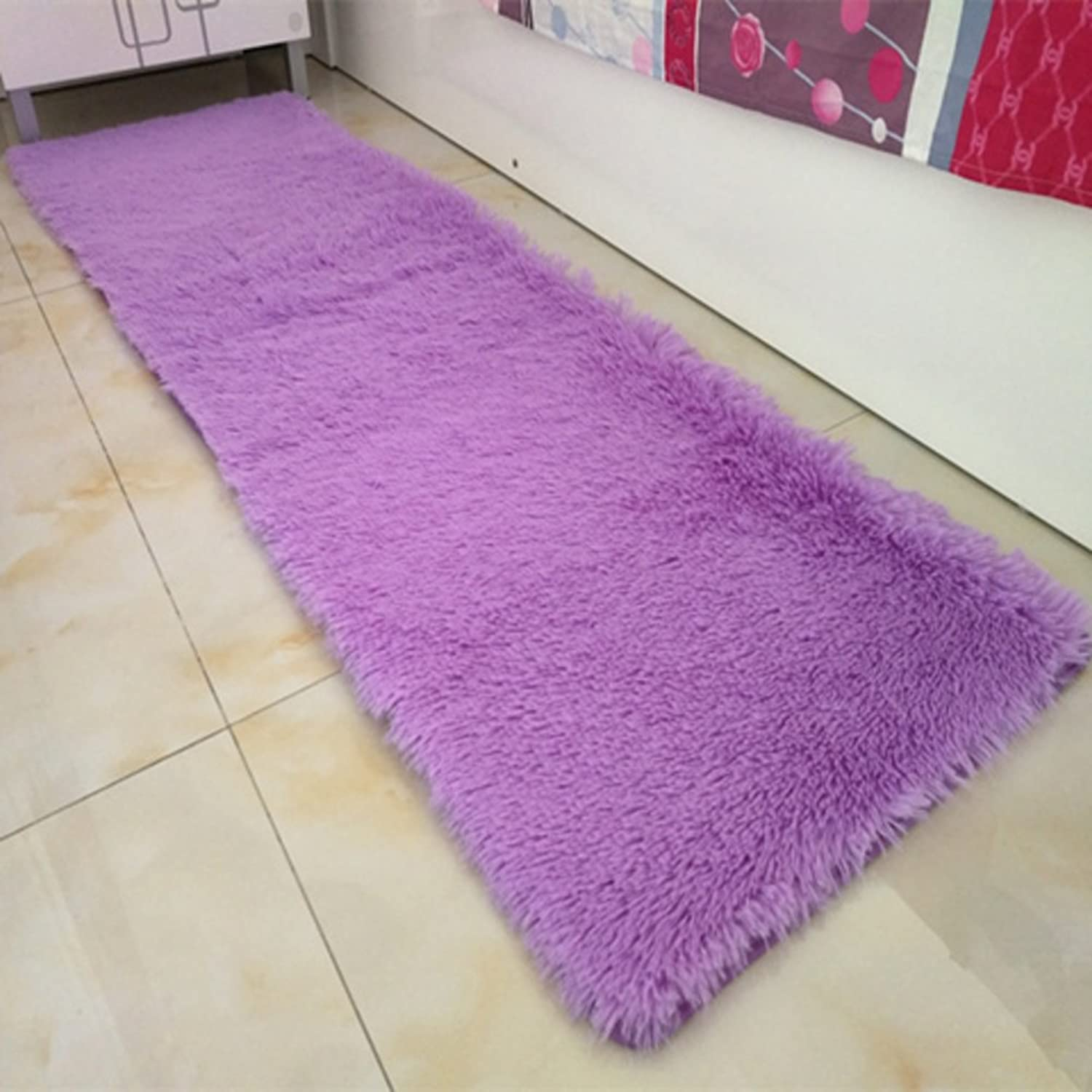 Door mat,Gate pad,Rug,Could be washed by water,Thicken,Long cashmere,Hair mats,Bedroom,[bedside],Bay window mats,Balconies mats-J 60x160cm(24x63inch)