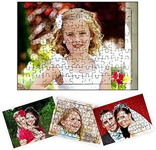 picontshirt Personalized Photo Print Jigsaw Puzzle A4 Size 99 Pieces with Self Stand