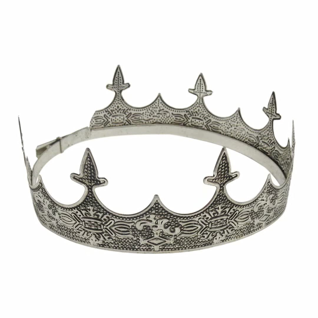 Elegant Silver OFFicial mart mail order King Crown for Men - Men's D Party Prom