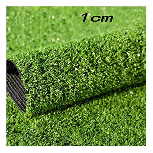 GHHZZQ Künstlicher Rasen Kunstrasen Rasenteppich for Garten Balkone Wasserdurchlässig rutschfest, Höhe: 10 mm (Color : B-1-1.0cm, Size : 2x2m)