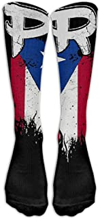 American Flag Skull Printed Crew Socks Warm Over Boots Stocking Trendy Warm Sports Socks