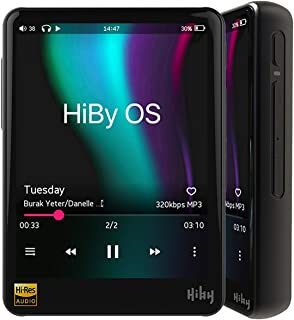 HiBy R3 Pro (Black) Hi-Fi Lossless MP3 Player, Hi-Res Music Player with Bluetooth Audio Player Supporting WiFi with Full T...