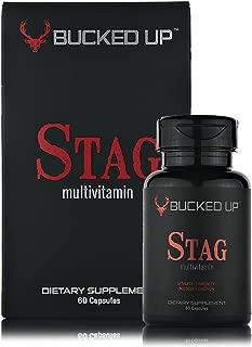Stag Multivitamin - Men - Full Spectrum Vitamin Formula - Vitality, Immunity and Muscle Function (60 Capsules)
