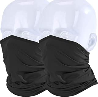 WTACTFUL 2 Pack/1 Pack - Lightweight Thin Neck Gaiter Protection Face Mask for Outdoor Sport