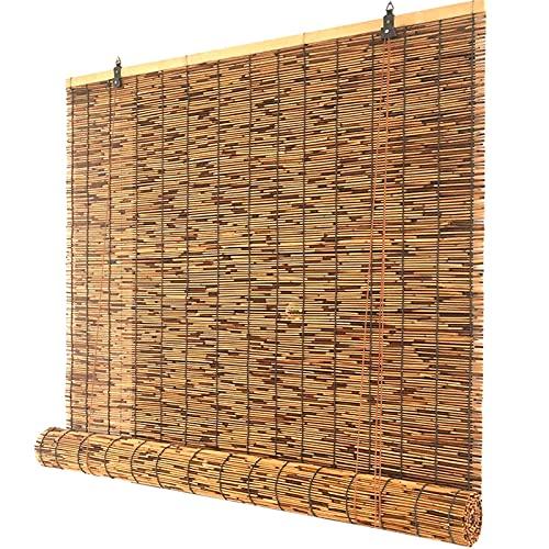 Anti -UV Persianas de rodillos de bambú, obturador a prueba de viento con sombrilla para jardín, patio, galería, balcón, 50 cm 60 cm 70 cm 80 cm 90 cm 100 cm 110 cm 120 cm 130 cm 140 cm de ancho