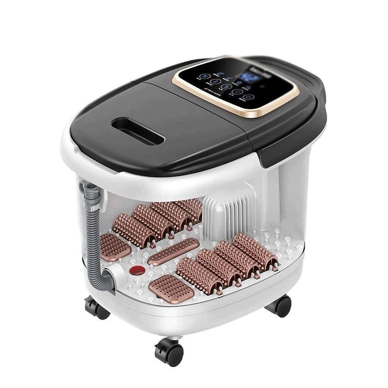 鮫カポック溶けるTBCML フットスパマッサージ - 温水浴槽、自動マッサージローラー、振動、泡、デジタル調節可能温度制御