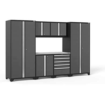 Garage Cabinets 50420 NewAge Products Bold 3.0 Gray 7 Piece Set