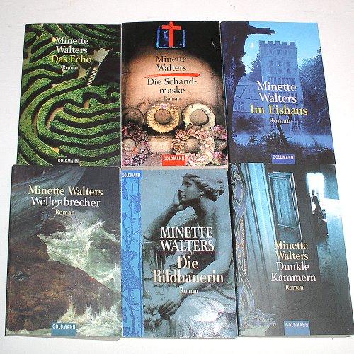 Minette Walters Konvolut 6 Bücher (Das Echo - Die Schandmaske - Im Eishaus - Wellenbrecher - Die Bildhauerin -Dunkle Kammern)