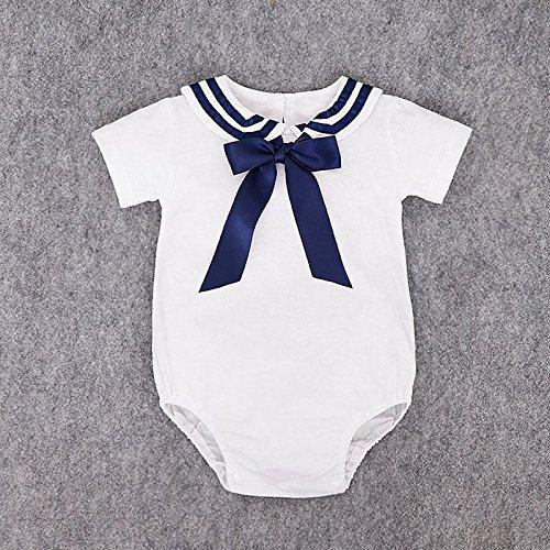 zooarts Neugeborene Baby Unisex Mädchen Jungen Sailor Strampler Body Sommer Outfit Sunsuit für 0–18Monaten Baby, multi, S (0-3months)