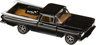 Johnny Lightning New DIECAST Toys CAR 1:64 Street Freaks 2018 Release 4 Version B - 1959 Chevrolet EL Camino (Tuxedo Black) JLSP053-24B