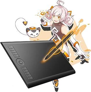 GAOMON 10 x 6,25 Pulgadas Tableta Gráfica Drawing Tablet 8192 Presión de Nivel con Pasiva Pluma-M10K 2018 Versión (M10K2018)