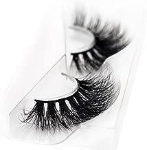 3D Mink False Eyelash 100% Handmade Strip Lashes, Pinkzio Reusable Extra Thick, Dramatic Volume Double Layer Fake Lashes 3D Faux Mink Lashes-003