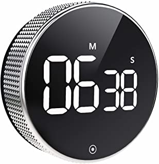 OVEKI Kitchen Timer, Magnetic Countdown LED Digital Timer,Twist One Button Operation..