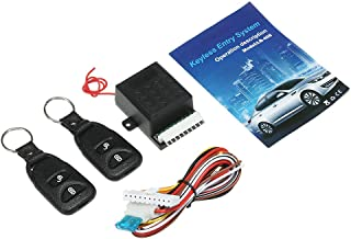 KKmoon 12V Universal Car Remote Central Kit, Door Lock Locking Vehicle Keyless Entry System, with 2 Remote Control