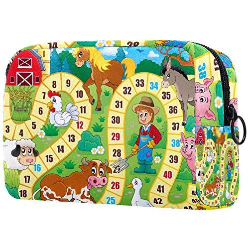 Bolsa de brochas de maquillaje personalizada, portátil, bolsa de aseo para mujer, organizador de viaje, mesa y juego de escritorio
