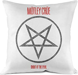 TyLerCcs Rock Music Band Album Throw Pillow Covers Cotton Square Cushion Case for Sofa Bedroom Car 18x18 Inch