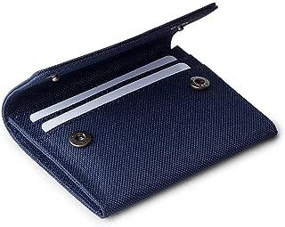 DailyObjects Blue Ballistic Nylon Flip Top Women's Card Wallet, Colour-Multicolor, Size- 2.75x.25x4.5 Inch