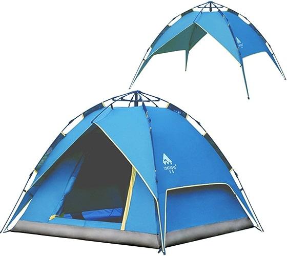 LJJOZ Auto Tentes Outdoor Double-Couche 3-4 Man Kit équipement Pluie Le Wild Mountain Climbing Pêche Camping (Couleur    3)