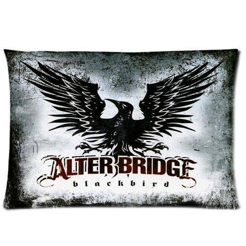 Aangepaste Alter Bridge Rock Band Blackbird Rechthoek Katoen & Polyester Zachte Kussen met rits Kussenhoes Kussenhoes Standaard Maat (20 * 30) (Twin Sides)