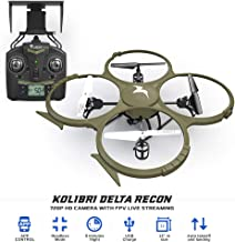 Kolibri Delta-Recon Quadcopter Drone for Kids & Adults, Wifi FPV App HD 720P Camera Live Video, Auto Take Off/Landing with Altitude Hold Function, Best for Beginners, Top Gifts for Teens. Model: U818A