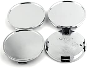76mm Chrome Silver Car Wheel Center Hub Caps Base Set of 4