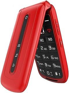 Téléphones Portables à Grosses Touches Clapet pour Personnes Agées, SOS Bouton GSM..