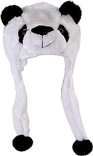 RETYLY 子供の動物帽子 スカーフ付き フェイクファー 子供の冬用の帽子 クールなギフト - パンダ