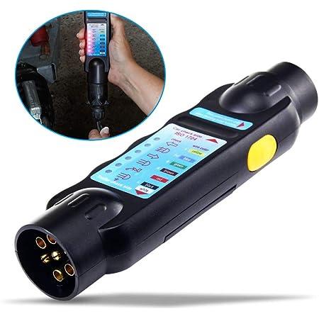 Voilamart Prüf Testgerät 13 13 Polig Anhängerbeleuchtung Testen Gerät Messgerät 12v Exkl 9v Batterie Dose Anhängerbeleuchtung Trailer Tester Auto