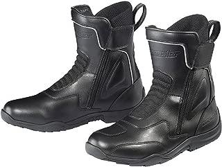 Tour Master Flex WP Dual Zip Men's Leather Street Motorcycle Boots - Black/Size 13
