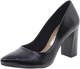 Sapato Feminino Salto Alto Preto/Croco Via Marte - 182205