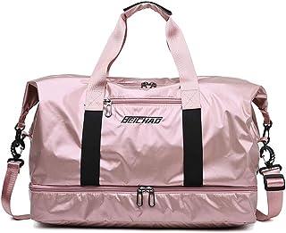 AKDSteel Men Women Travel Duffle Bag Large Capacity Oxford Handbag Luggage Lightweight Sports Gym Bag Pink Jewery Accessories