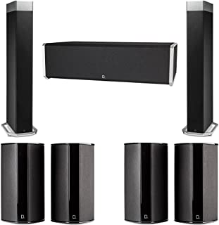 Definitive Technology 7.0 System with 2 BP9080X Tower Speakers, 1 CS9040 Center Channel Speaker, 4 SR9080 Surround Speaker