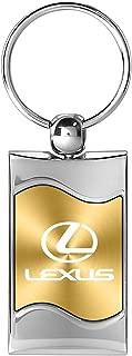 CarBeyondStore Lexus Gold Wave Matel Key Chain