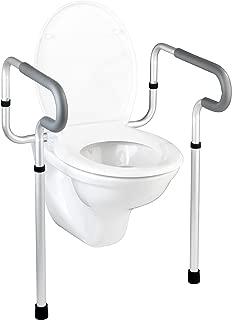Wenko Asistente para Taza de WC, Aluminio, Plateado, 48x55.5x81.5 cm