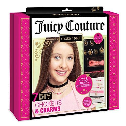Make It Real Juicy Couture Chokers & Charms. DIY Halsschmuckherstellung Kit für Mädchen. Design und Erstellen Mädchen-Halskette mit Juicy Couture Anhängern, Perlen, Bänder und Ketten